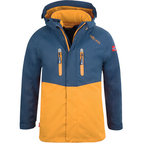 TROLLKIDS Bryggen 3in1 Jacket Kids mystic blue/golden yellow